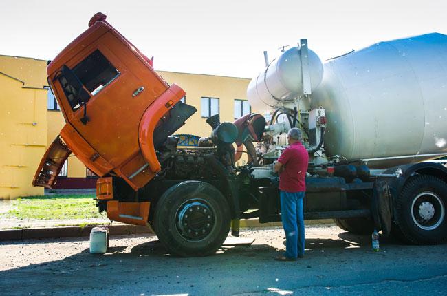 Diesel Engine Under Repair